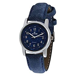 Dezine Womens Blue Leather Watch