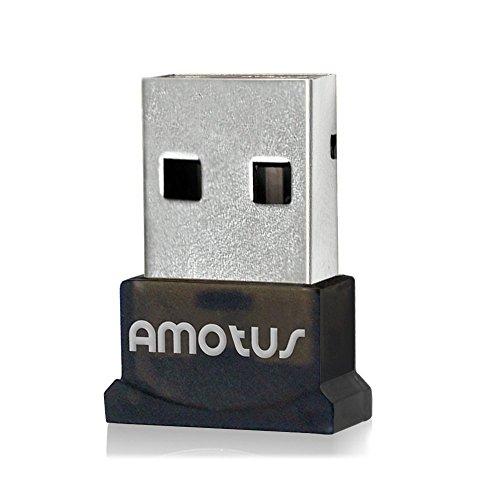 Bluetooth Adaptateur, Amotus USB Bluetooth Adaptateur 4. 0 + EDR Sans Fil Adaptateur [Basse énergie] Plug Play USB Dongle Pour PC, Casque, Ordinateur Portable, Windows 10 / 8,1 / 8 / 7 / Vista, Données, Clavier, Souris, Imprimante