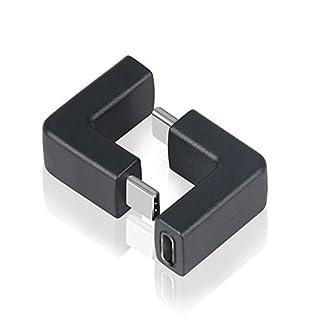 aceyoon USB C Winkel 2er Set OTG Typ C Verlängerung gewinkelt rechtwinklig Angle Adapter Stecker auf Buchse USB-C 3.1 90 Grad Gen 2 schnell Laden & Daten 10Gbps für Samsung Google Tablet MEHRWEG
