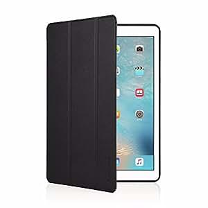 iPad Pro 9.7 Hülle, EasyAcc Ultra-Slim Premium Kunstleder für iPad Pro 9.7 Smart Case Schutzhülle mit klappbarem Standfuß und automatischer Sleep/Wake Up Funktion (Schwarz, Kunstleder, Ultra Dünn)