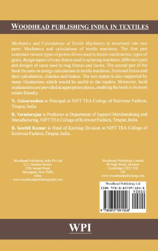 Mechanics and Calculations of Textile Machinery (Woodhead Publishing India in Textiles)