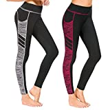 Munvot Damen Sporthose Sport leggings Tights 1 bis 2er Pack