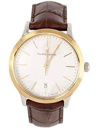 Maurice Lacroix  Les Classiques - Reloj de cuarzo para hombre, con correa de cuero, color marrón