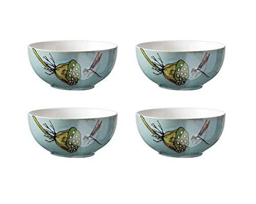 HR Lotus Wurzel Muster Keramik Dessert Salat Müslischale 17cm Kreative Keramik Schale 4 Bowl Scorpion Bowl