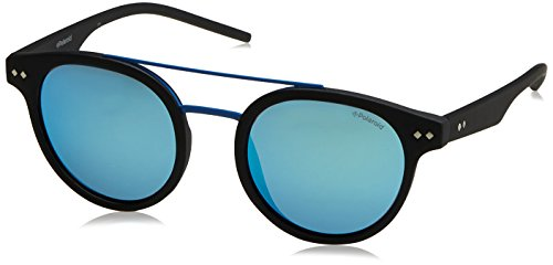 Polaroid Mirrored Round Unisex Sunglasses - (PLD 6031/S 003 495X|49|Blue Color) image