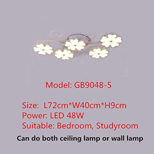 Creative novelties Ceiling lighting Post-modern minimalist living room fixtures bedroom lamps plum LED aisle Ceiling Lights,Warm White,5 lamp caps -