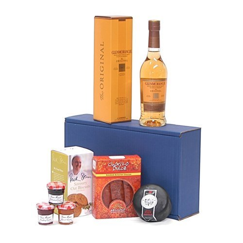 The Glenmorangie Whisky Ultimate Gents Delights Gift Hamper - Includes 350ml 10 Years Old Glenmorangie Single Malt Scotch Whisky - Gift Ideas for Christmas, Valentines, Birthday, Wedding, Anniversary, Business, Corporate and Congratulations Presents