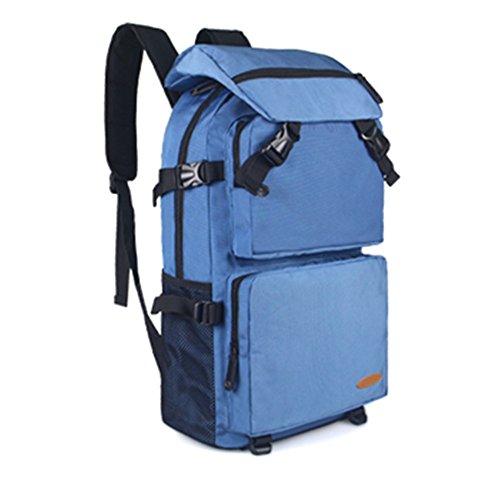Viaggio zaino capiente borsa a tracolla tela zaino impermeabile Outdoor arrampicata borse computer, Orange Blue