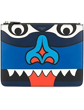 Givenchy Herren BK06072698960 Blau Leder Clutch