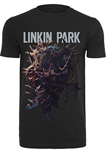 MERCHCODE Herren Linkin Park Heart Tee T-Shirt, Black, XL - Band-konzert-tour-t-shirt