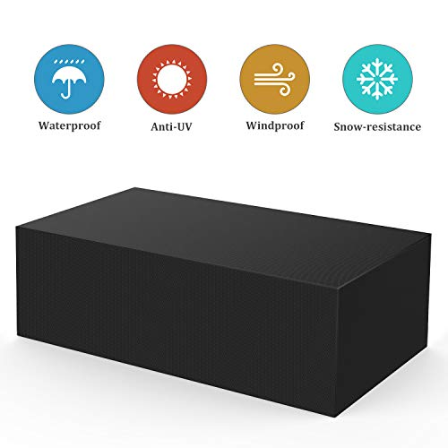 Bellababy Fundas Muebles Jardin, 420D Oxford Funda de Muebles Impermeable Resistente al...