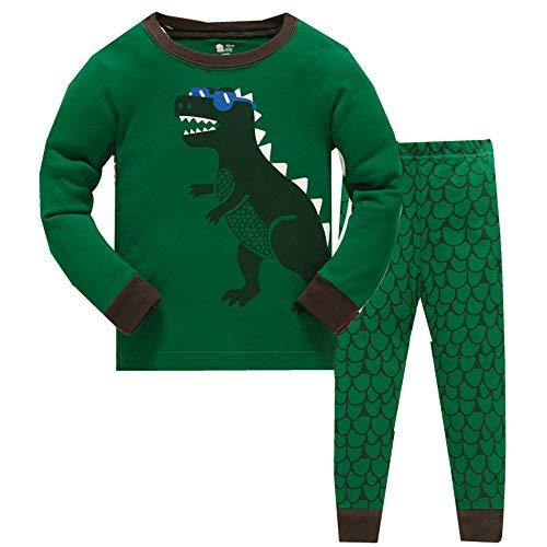 Dawils dinosauro bambini ragazzo pigiama pigiama a maniche lunga per ragazzo di 7 anni