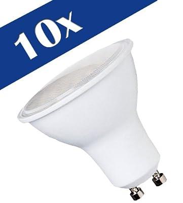 10x LEDMAN GU10 LED Lampe 7,5 Watt - 120° Abstrahlwinkel - 640lm - Warmweiß - 230V - SMDs Strahler von LEDMAN - Lampenhans.de