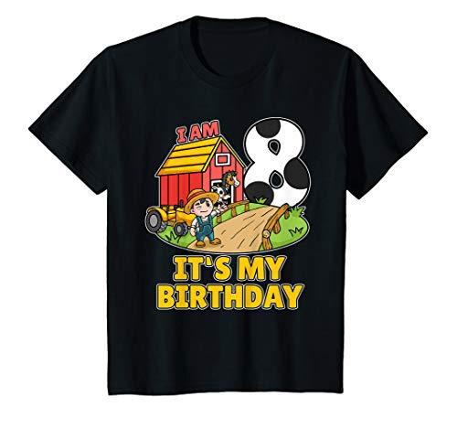 Bauer Shirt Kostüm - Kinder 8. Geburtstag Bauer Shirt Landwirt Ich Bin Schon 8 Jahre T-Shirt
