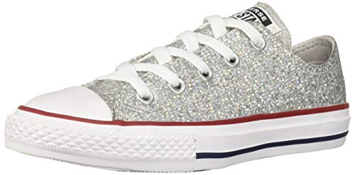 Converse Unisex-Kinder Chuck Taylor All Star Sneaker Grau (Mouse/Enamel Red/White 000) 33 EU