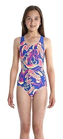 Speedo Girl's Island All Over Splash Back Swimsuit - Flamingo