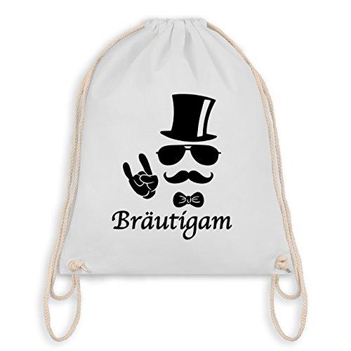 JGA Junggesellenabschied - Bräutigam Hipster Suit up - Turnbeutel I Gym Bag Weiß