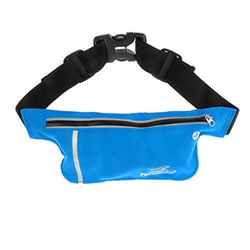 Unisex Hüfttasche, leicht und praktisch, geeignet für Jogging, Fitness, Radsport, Bergsteigen, Wandern usw. Outdoor Aktivitäten himmelblau