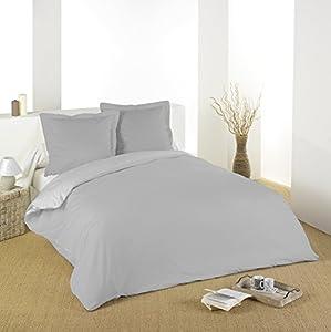 Lovely Casa HC44820004 Alicia - Funda de edredón (260 x 240cm, algodón de 57 hilos), color perla