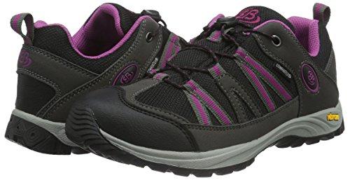 EB-Kids 421061, Chaussures de Randonnée Basses Fille Gris (Grau/Schwarz/Lila)