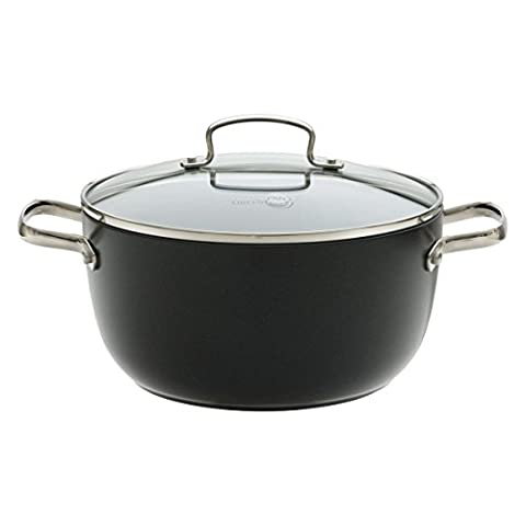 Green Pan Casserole / Aluminium non-stick casserole with glass lid / Ø 24 cm / 4.6 L / Suited for every hob type except induction / Dishwasher