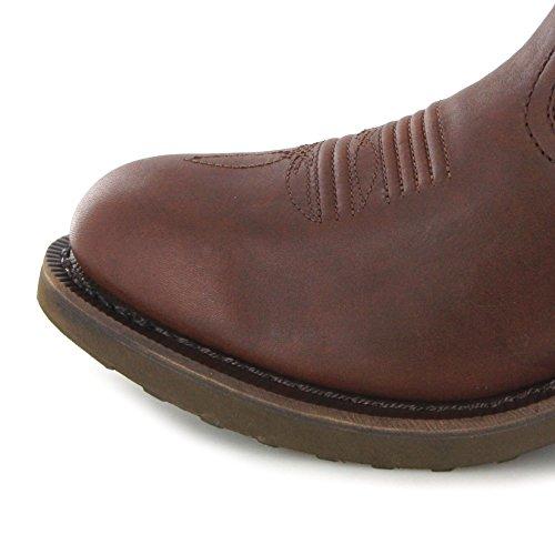 Stivali Moda Fb Stivali Durango Pull On Fr104 D Stivali Western Marrone Per Uomo Marrone Marrone (ampia D)