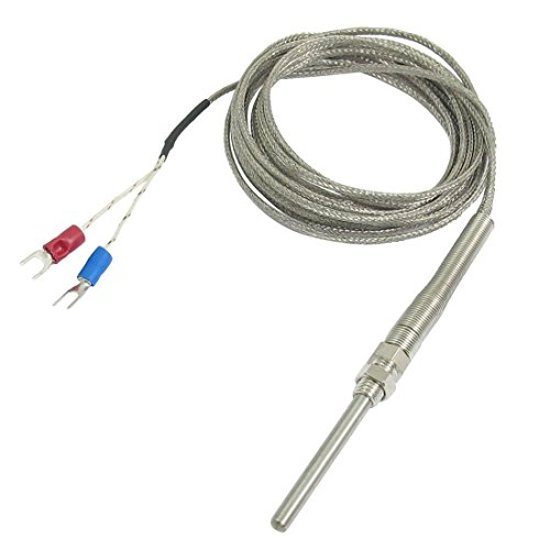 Semoic K-Typ 50 x 5 mm 800 Celsius Sonde Thermoelement Temperatur Sensor Kabel 9.8ft 3 M -