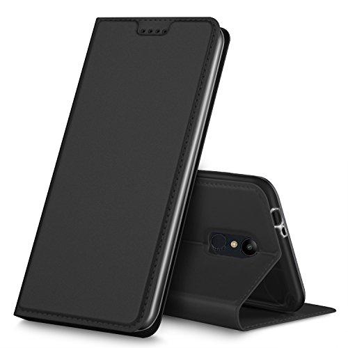GeeMai LG K8 2018 Hülle, Premium Flip Case Tasche Cover Hüllen mit Magnetverschluss [Standfunktion] Schutzhülle Handyhülle für LG K8 2018 Smartphone, Schwarz