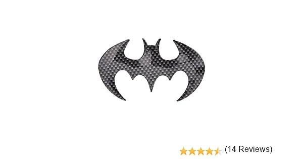 ideale come decorazione per auto SKS Distribution/® logo adesivo a forma di pipistrello di Batman in acciaio inox cromato in 3D di alta qualit/à