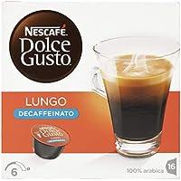 NESCAFÉ Dolce Gusto Café Lungo Descafeinado   Pack de 3 x 16 Cápsulas - Total: 48 Cápsulas de café
