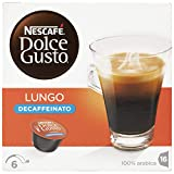 NESCAFÉ Dolce Gusto Café Lungo Descafeinado | Pack de 3 x 16 Cápsulas - Total: 48 Cápsulas de café