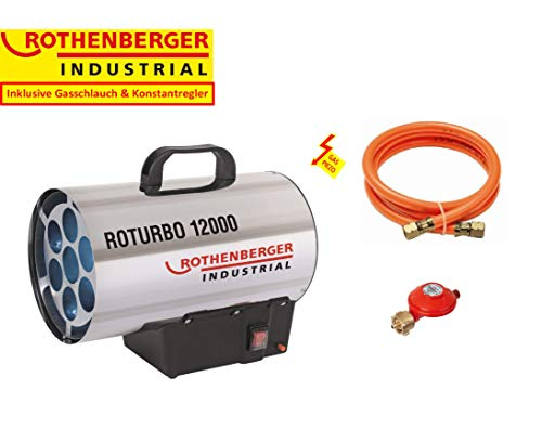 Rothenberger Industrial 1500000164 Heizkanone Roturbo 12000-VERSION FRANKREICH, 11900 W, Grau