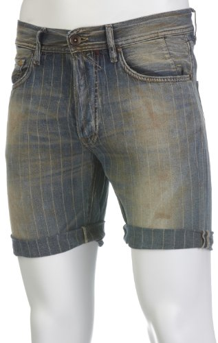 Preisvergleich Produktbild GAS Herren Bermuda Shorts Raf Chalk Denim Blue W627