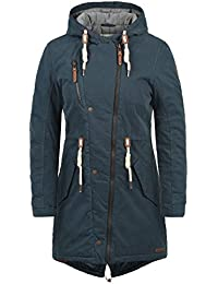 DESIRES Lew Damen Parka lange Jacke Winter-Mantel mit Kapuze aus hochwertiger Baumwollmischung