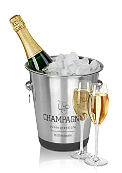 Stainless Steel French Design Champagne Wine Beverage Ice Bucket 0