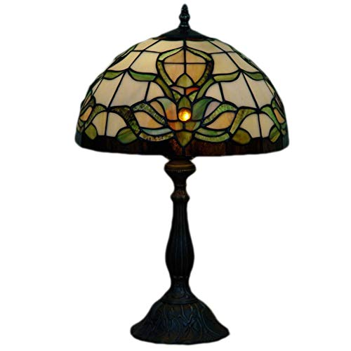 CANCUI Dekorative Tischlampe,Retro Handmade Tiffany stil E14 Beleuchtung Lampe reading Glas klar Lampenschirm Für Wohnzimmer Studie Bett lamp00-C 48x30cm(19x12inch)