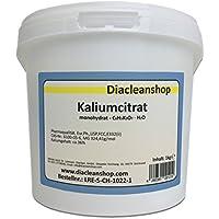 Kaliumcitrat Monohydrat 1kg - Kaliumgehalt 36% - Pharmaqualität mind. 99% - Pulver - E332