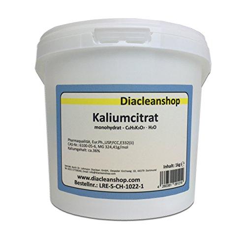 Kaliumcitrat Monohydrat 1kg - Kaliumgehalt 36{1d0c5dc5cd02380e52f0882737aca80c88cb834ae1f4d482b8cda3d9980f04fe} - Pharmaqualität mind. 99{1d0c5dc5cd02380e52f0882737aca80c88cb834ae1f4d482b8cda3d9980f04fe} - Pulver - E332