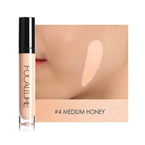FOCALLURE Maquillage Sombre Peau Visage Contour Concealer Cosmétiques Imperméable Couleur Correcteur Liquide Fondation Concealer-Miel Moyen