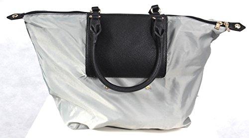 PATRIZIA PEPE BAG 2V6581A1ZL H301 Total Gray Nylon