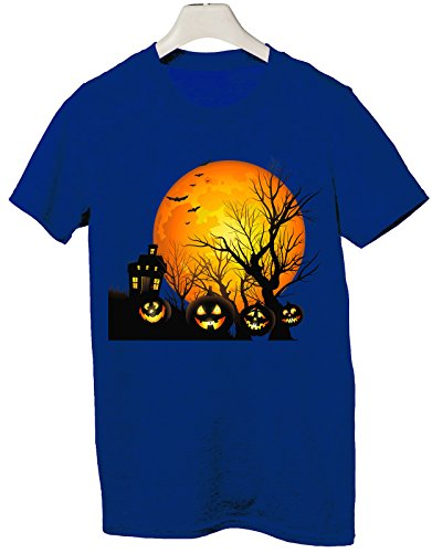 Tshirt happy halloween - trick or treat - boo scherzo humor - Tutte le taglie by tshirteria Blu