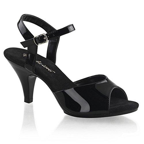 Lack Sandalette, Damen, Schwarz (schwarz)
