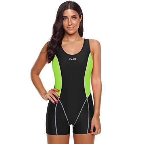 SHE.White Damen Figurformend Color-Block Sport Bademode Badeanzug Essential Endurance Badeanzug Swimsuit Größe