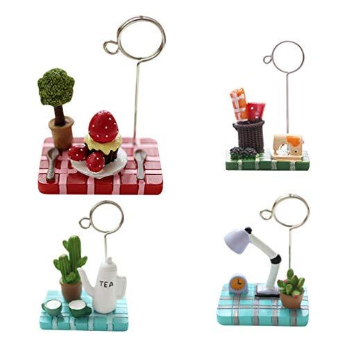 cro Landscape Teekanne Erdbeerbaum Memo-Halter Clip für Visitenkarten - zufällige Farbe und Stil ()