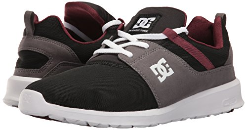 DC Heathrow Skate Shoe, Black/Grey/Green, 14 M US Armor/Oxblood