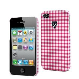 001 Rückabdeckung mit Schutzhülle mit Displayschutzfolie Cremieux für Apple iPhone 4S pink/weiß ()
