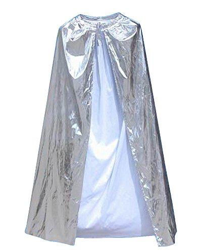 Alien Storehouse [140cm Silber] Halloween Umhang Weihnachtsfest Cape Cosplay Kostüm