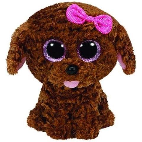Ty peluche perro marrón c/lazo gr