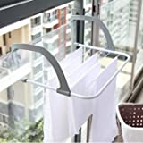 Jern Foldable Metal Frame Windowsill Sunderies Stand (50 X 34 X 15 Cm)(White)