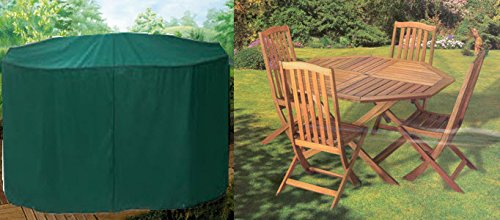 Housse Premium pour salon de jardin (tables et chaises) rond 160cm polyester haut de gamme